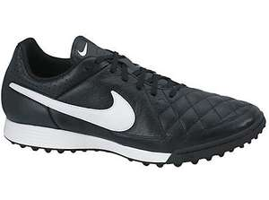 Nike Tiempo Genio Mens Leather Turf Trainer, Black/White only £13 at John Lewis