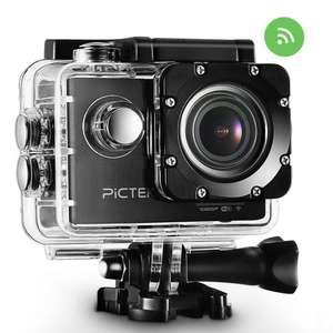 Pictek Waterproof Action Camera WIFI 2.0 Inch HD 1080P Sports Camera with 170 Degree Wide-angle Lens,Multiple Accessories Kit,for Outdoor Sports Sliver £45.99 Sold by YongTop and Fulfilled by Amazon