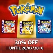 Pokémon Red / Blue / Yellow Version Now £6.29 each @ Nintendo eShop