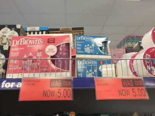 Dr Brown gift set £5 @ B&M - Stenhousemuir