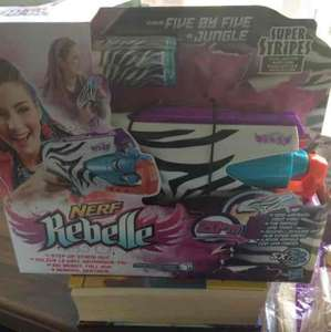 nerf rebelle five by five super stripes £3.99 @ home bargains