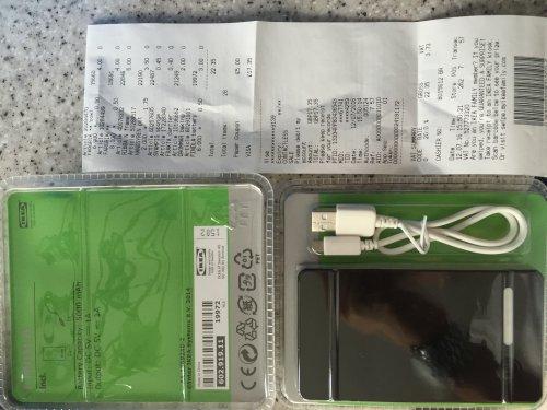 Ikea Findla portable phone charge 50p - Lakeside - Essex