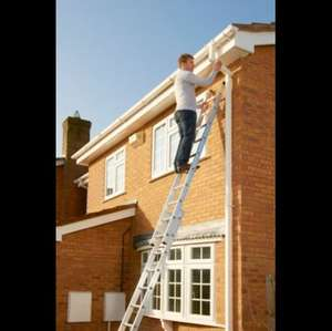 Abru Aluminium Double Extension Ladder, (H)5.62M, £65 @ B&Q + Free delivery