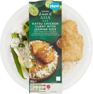 Morrisons A Taste of Asia Breaded Chicken Katsu with Jasmine Rice (385g) was £3.25 now £2.00 @ Morrisons