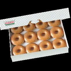 Friends of Krispy Kreme. One day only an ORIGINAL DOZEN 79p with the purchase of any other dozen