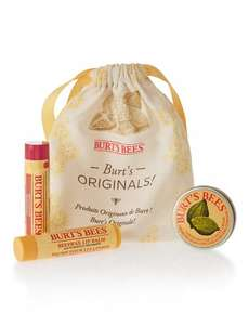 Burts Bees Originals Gift Set was £8 now £3 C+C @ M&S (+ others in comments ie Royal Jelly Jar Stacker was £8.50 now £3 & in Buy One Get One Half Price Offer so 2 for £4.50)