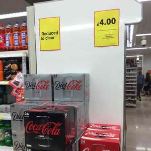 Coca Cola 24 Cans pack @ £4.00 (17 Pence each) - Tesco Metro