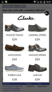 Clarke's Huckley Tough work shoes (and others below) £24 free c&c