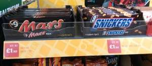 Snickers 9 × 41.7g bars £1.50 @ One Stop