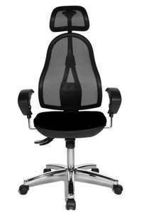 Topstar Open Point Synchro Deluxe Swivel Chair - Black (ergonomic, adjustable office chair w/ lumbar support and headrest) £48.63 Amazon