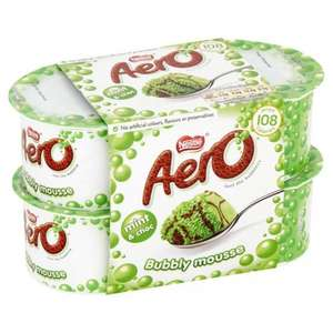 4 Pack Aero Mousse, Milky Bar Mousse, Rolo Mousse 70p at Tesco, 2 Pack Cadbury Hot Chocolate Sponge Pudding £1.00 at Tesco