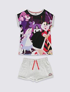 Disney Alice In Wonderland Short Pyjamas Ages 2yrs - 7yrs was £13 now £4 C+C @ M&S