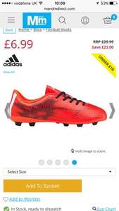 Boy's Adidas football boots £6.99 + £4.49 Delivery (£11.48) @ mandmdirect