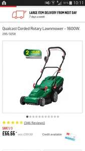 Qualcast Corded Rotary Lawnmower - 1600W £66.66 Argos