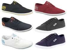New Mens Henleys Crosshatch Lace Up Logo Canvas Shoe Pumps Trainers Plimsolls £9.49 @ Ebay/bpd-outlet