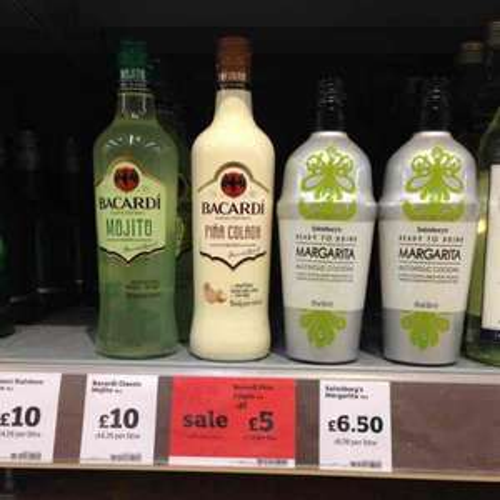 Bacardi Pina Colada half-price at £5 @ Sainsbury's