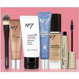 Offer Stack on No7 Skincare and Make-Up:  Some Items are reduced + 3 for 2 + £10 Off a £30 spend using code  at Boots