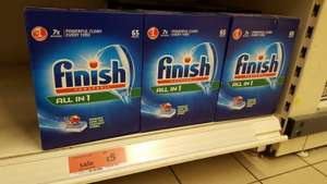 Finish Power ball All In One 65 Tablets for £5.00 7.7p each at Sainsbury's