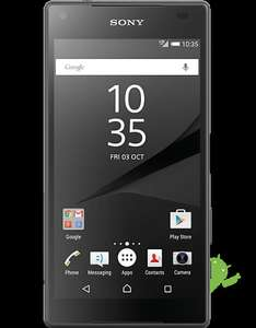 Sony Z5 Compact from £279 PAYG Upgrade price (£299 sim free non upgrade price) Carphone Warehouse