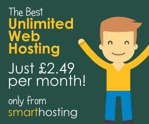 Unlimited Web Hosting for only £2.49 a month from Smart Hosting