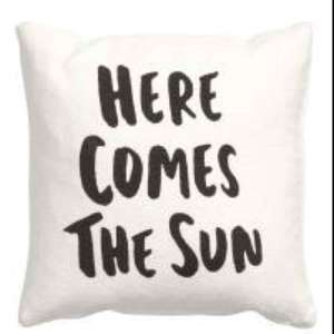 H&M 'HERE COMES THE SUN' cushion cover £1.25 delivered (use code 6081)