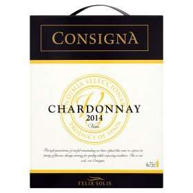 consignia white wine chardonnay 12% 3 litre box £13 @ asda £3.25 a bottle