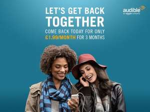 3 Months Audible for £1.99/month