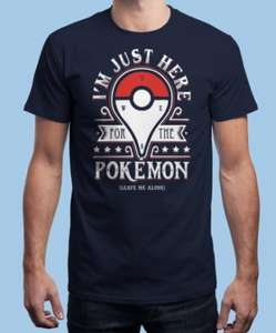 POKEMON GO T-Shirt £9.50 Delivered at Qwertee Using Code!