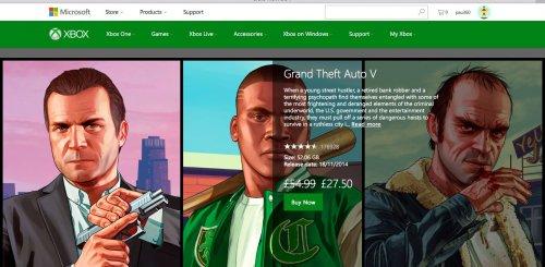 GTA V (digital) Xbox One £27.50 @ Xbox.com