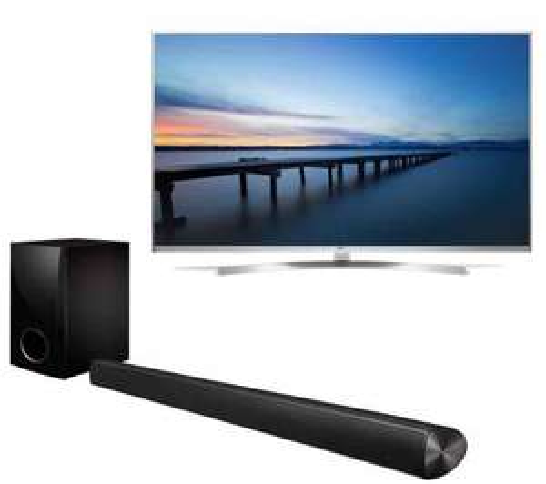 """LG 55UH850V Smart 3D 4k Ultra HD HDR 55"""" LED TV & Sound Bar Bundle £1259.10 @ Currys"""