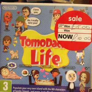 Tomodachi Life/Nintendogs and Mario Tennis- ASDA Tamworth reduced £10