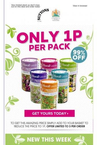 Seeds 10p @ Sutton Seeds (£1.99 del)