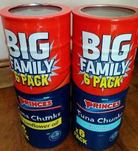 x 6 Pack Princes tuna chunks in brine/sunflower oil £3.49 @ Farmfoods