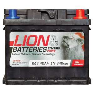 Lion Battery 063 3 Year Guarantee £24.49 delivered @ eurocarparts 30% off all car batteries.