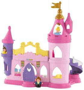 Fisher-Price Toy - Disney Princess Little People Musical Dancing Palace - Belle Cinderella Figure  RRP £49.99 On Amazon for £23.99 Exclusively for Prime Members