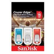 Sandisk Cruzer Edge usb flash drive, 3x 16gb pack £2.50 @ Tesco instore