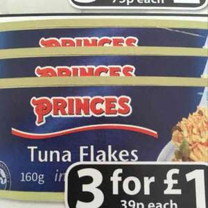 Princes Tuna Flakes 3 for £1 (39p each) at Farmfoods