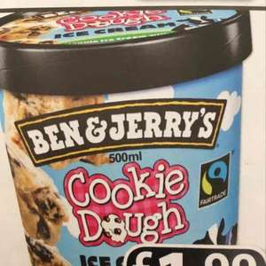 Ben and Jerrys Cookie Dough 500ml ice cream for £1.99 at Farmfoods