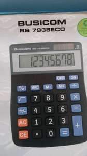 Solar powered desktop calculator 59p Home Bargains