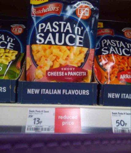 Pasta'n'Sauce smokey cheese & pancetta 13p @ Asda - (Llanelli store)