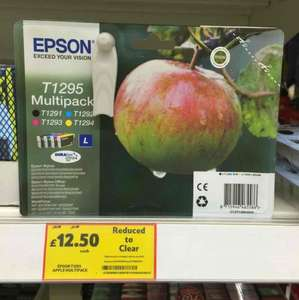 Epson T1295 Genuine printer inks only £12.50 at tesco!