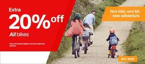 20% off all bikes at Halfords