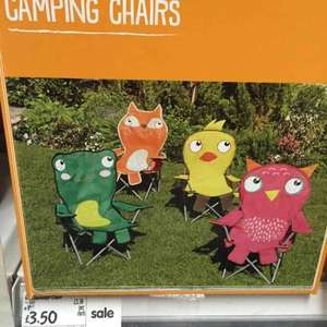 Kids Camping Chairs at £3.50 Asda