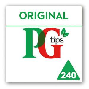 PG Tips Pyramid Teabags (240) Half Price was £5.99 now £2.99 @ Tesco
