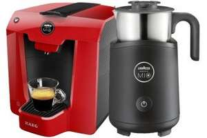 AEG Lavazza A Modo Mio Milk Frother & Coffee Machine Bundle Red for £60.00 (pay 1p for one of them) @ Go Electrical