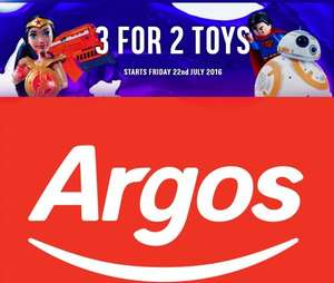 Argos 3 for 2 toys back tomorrow on selected lines (22nd July) **Now live**