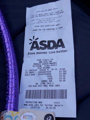 Kids hula hoop £1 @ Asda