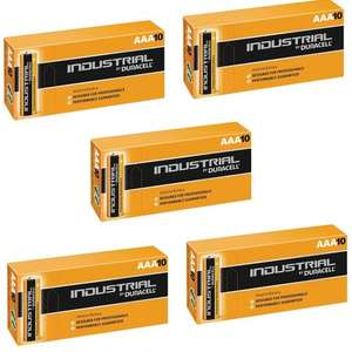 Duracell 50 X AAA Industrial Alkaline Battery - Orange - £11.90  @ Amazon /  UK Business Supplies