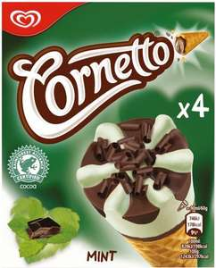 Cornetto Classico / Mint / Strawberry Ice Cream Cones (4 x 90ml) was £2.00 now £1.00 @ Tesco