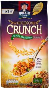 Quaker Wholesome Crunch Pecan Granola Nuts / Goji and Blackberry (550g) Half Price was £3.89 now £1.94 @ Tesco